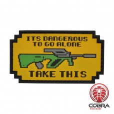 It is dangerous to go alone Steyr militaire PVC Patch met klittenband