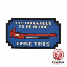 It is dangerous to go alone blue militaire PVC Patch met klittenband