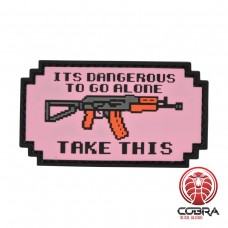 It is dangerous to go alone AK-47 militaire PVC Patch met klittenband