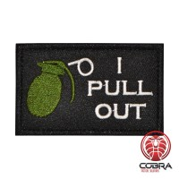 Hand grenade I pull the pin out Geborduurde militaire Patch met klittenband