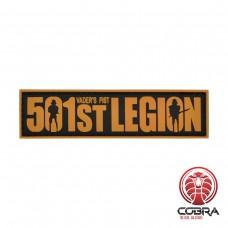 501st Legion brown militaire PVC Patch met klittenband