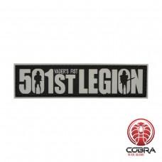 501st Legion white militaire PVC Patch met klittenband