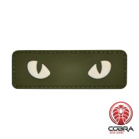 Snake eyes green militaire PVC Patch met klittenband
