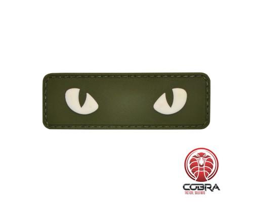 Snake eyes green militaire PVC Patch met klittenband