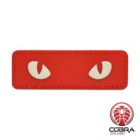 Snake eyes red militaire PVC Patch met klittenband