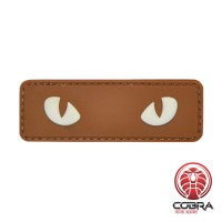 Snake eyes brown militaire PVC Patch met klittenband