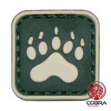 Bear Claw Tracker PAW green militaire PVC Patch met klittenband