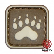 Bear Claw Tracker PAW brown militaire PVC Patch met klittenband