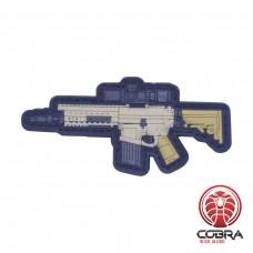SR25 MK12 vers.2 gun PVC Patch met klittenband