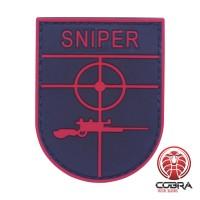 Sniper rode militaire PVC Patch met klittenband