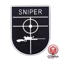 Sniper witte militaire PVC Patch met klittenband