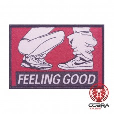 Feeling Good sexy funny Geborduurde militaire Patch met klittenband