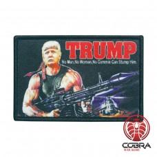Trump No Man, No Woman, No commie can Stump Him printed Geborduurde militaire Patch met klittenband