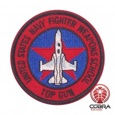 United Stats Navy Fighter Weapons School TOP GUN Geborduurde militaire Patch met klittenband