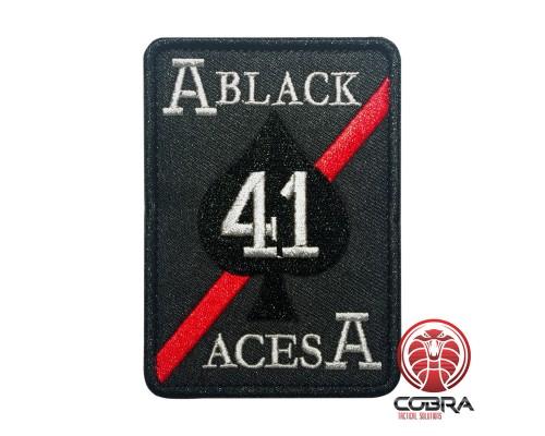 Strike Fighter Squadron 41 (VFA-41) Black Aces United States Navy zwart Geborduurde militaire Patch met klittenband