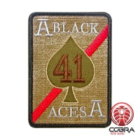 Strike Fighter Squadron 41 (VFA-41) Black Aces United States Navy groen Geborduurde militaire Patch met klittenband