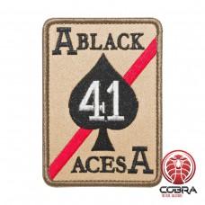Strike Fighter Squadron 41 (VFA-41) Black Aces United States Navy zwart bruin Geborduurde militaire Patch met klittenband