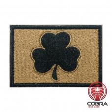 Irish Lucky Clover zwart zand Geborduurde militaire Patch met klittenband