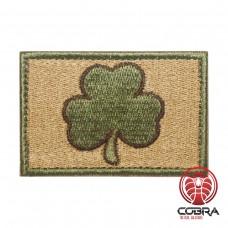 Irish Lucky Clover groen zand Geborduurde militaire Patch met klittenband