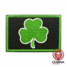 Irish Lucky Clover groen zwart Geborduurde militaire Patch met klittenband