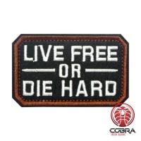 Live Free or Die Hard black Geborduurde militaire Patch met klittenband