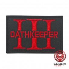 Three 3% Percenter OathKeeper zwart rood Geborduurde militaire Patch met klittenband