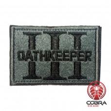 Three 3% Percenter OathKeeper grijs Geborduurde militaire Patch met klittenband