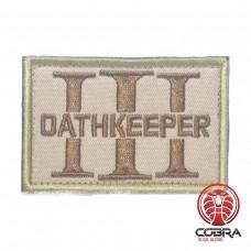 Three 3% Percenter OathKeeper sand Geborduurde militaire Patch met klittenband