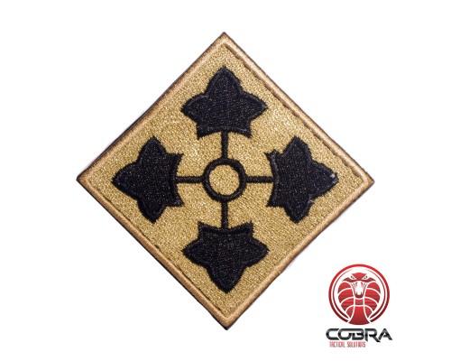 4th Infantry Division United States Army goud zwart Geborduurde militaire Patch met klittenband