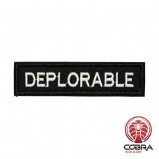 Deplorable Zwart Geborduurde militaire Patch met klittenband