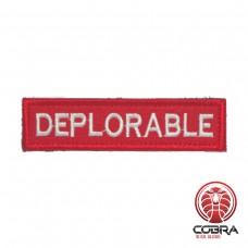 Deplorable Rode Geborduurde militaire Patch met klittenband