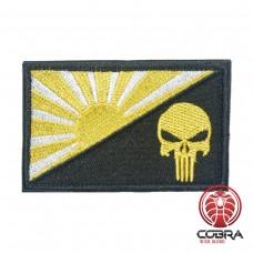 Japanese War Flag Rising Sun gele punisher Geborduurde militaire Patch met klittenband