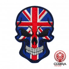 Skull Flag United Kingdom Geborduurde militaire Patch met klittenband