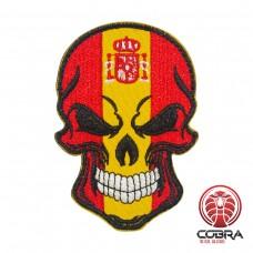 Skull Flag Spanje Geborduurde militaire Patch met klittenband