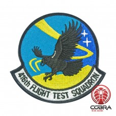 416th Flight Test Squadron US Airforce geborduurde patch | Opnaai  | Military Airsoft