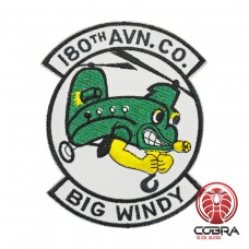 "180th Assault Support Helicopter Company ""Big Windy"" Unit geborduurde patch 