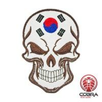 Schedelvlag Republiek Korea Geborduurde militaire Patch met klittenband