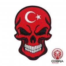 Schedelvlag Republiek Turkije Geborduurde militaire Patch met klittenband