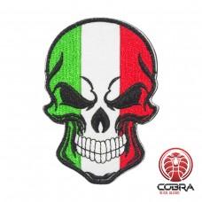 Schedelvlag Republiek Italië Geborduurde militaire Patch met klittenband