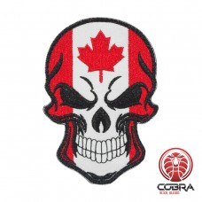 Schedelvlag Canada Geborduurde militaire Patch met klittenband