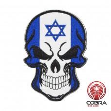 Schedelvlag Israël Geborduurde militaire Patch met klittenband
