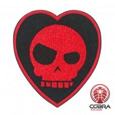 Mean T-Skull Bloody Valentine Geborduurde militaire Patch met klittenband