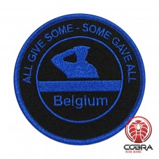All give some - some gave all Belgische Politie Blue line geborduurde patch | Strijkpatches | Military Airsoft