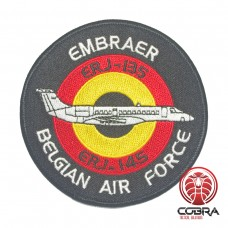 Belgian Air Force Embraer ERJ-I35 ERJ-I45 aviation geborduurde patch | Strijkpatches | Military Airsoft