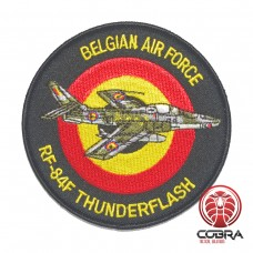 Belgian Air Force F-84G Thunderflash aviation geborduurde patch | Strijkpatches | Military Airsoft