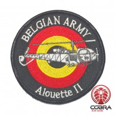 Belgian Air Force Alouette II aviation geborduurde patch | Strijkpatches | Military Airsoft