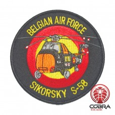 Belgian Air Force Sikorsky S-58 aviation geborduurde patch | Strijkpatches | Military Airsoft