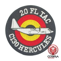 Belgian Air Force 20 FL TAC C130 Hercules aviation geborduurde patch | Strijkpatches | Military Airsoft