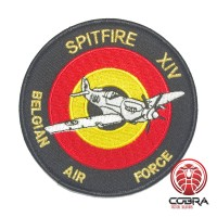 Belgian Air Force Spitfire XIV aviation geborduurde patch | Strijkpatches | Military Airsoft