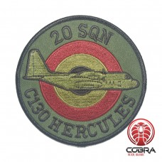 Belgian Air Force 20 SQN C130 Hercules aviation geborduurde patch | Strijkpatches | Military Airsoft